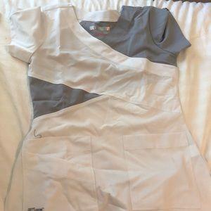Women's white/ grey scrubs